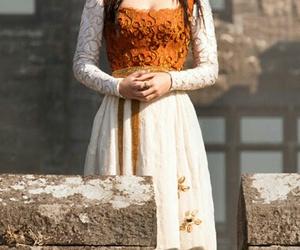 dress, mary stuart, and orange image