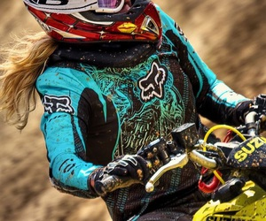 girl, motocross, and ride image