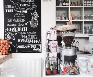 candy, chalkboard, and coffee image
