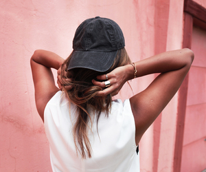 fashion, girl, and cap image