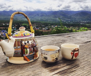 afternoon tea, landscape, and nature image