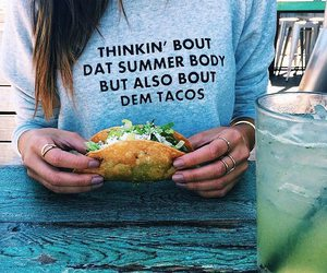 tacos, food, and summer image