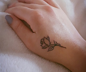 tattoo, hand, and rose image