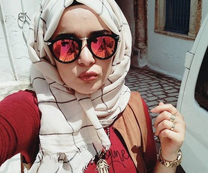 hijab, outfit, and turban image
