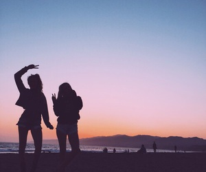 best friends, girl, and beach image