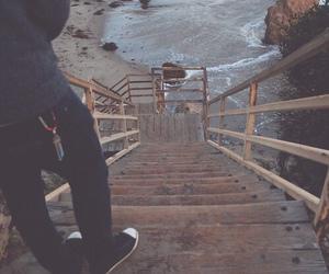 beach, sea, and boy image