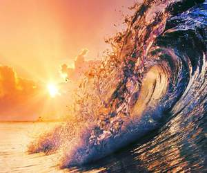 waves, summer, and sun image