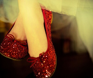 shoes, red, and glitter image