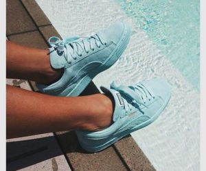 shoes, blue, and puma image