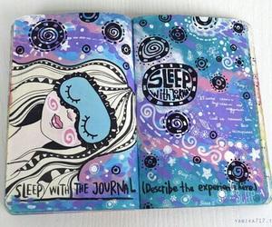art, wreck this journal, and sleep image