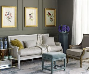 art, grey, and interior image