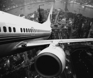 airplane, city, and plane image