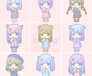 chibi, kawaii, and pixel art image