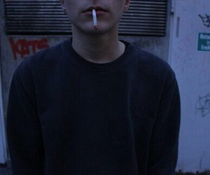 boy, grunge, and smoke image
