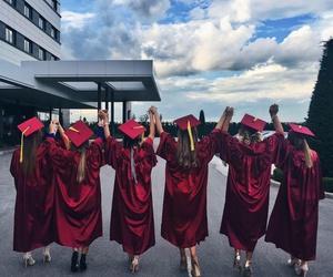 best friends, shoes, and graduation image