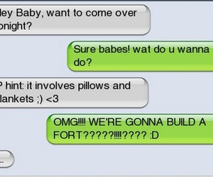 funny, text, and fort image