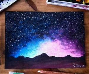aesthetic, galaxies, and heart image