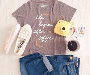 outfit, ootd, and coffee image
