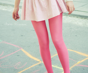 pink, skirt, and legs image