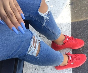 nails, puma, and red image