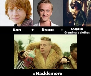 macklemore, harry potter, and funny image