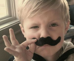 funny, moustache, and kid image