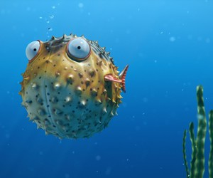 bubbles, fish, and eyes image