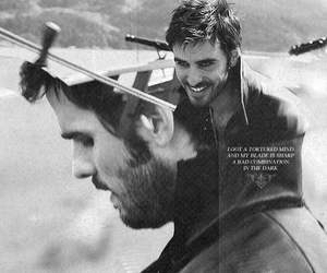 black and white, once upon a time, and captain hook image