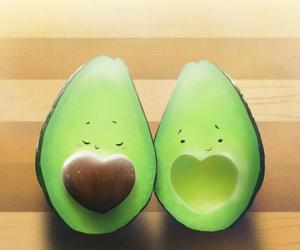 avocado and heart image