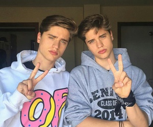boy, martínez twins, and brothers image