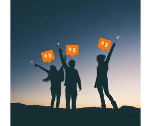 orange, friends, and giddyology image