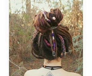 Chica, tatuajes, and peinado image