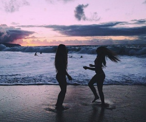 beach, summer, and friends image