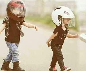 baby, biker, and kids image