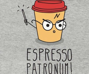 harry potter, funny, and espresso image
