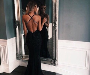 backless dress, dress, and glamour image