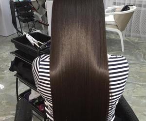 black hair, blonde, and brown hair image