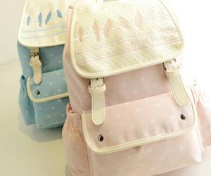 bag, blue, and kawaii image
