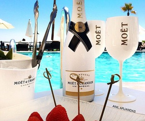 champagne, pool, and moet image