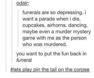 funny, funeral, and lol image