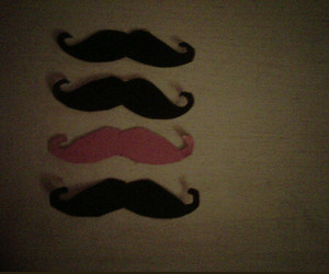 black, pink, and moustache image