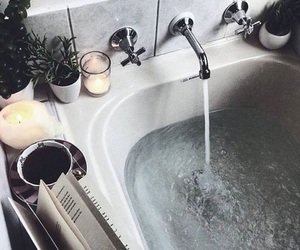bath, water, and book image
