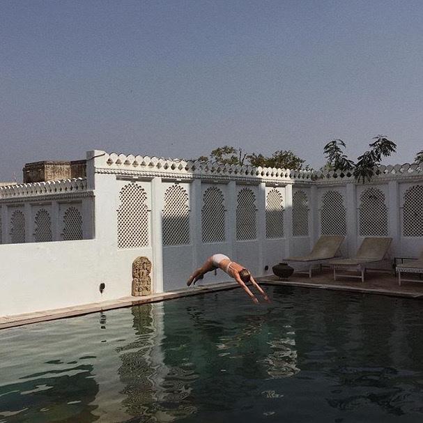 indie, pool, and water image