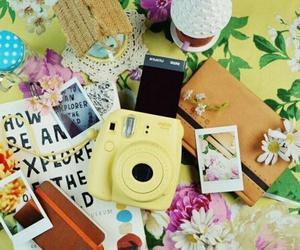 camera, flowers, and fujifilm image