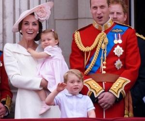 prince william, princess charlotte, and prince george image