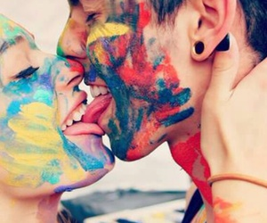 color, ❤, and kiss image