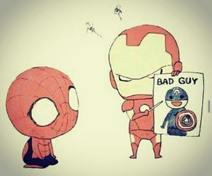Marvel, spiderman, and civil war image