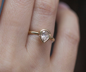 etsy, engagement rings, and gold engagement ring image