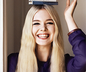 Elle Fanning, blonde, and book image