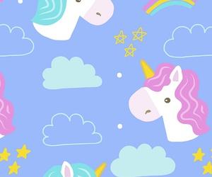 unicorn, wallpaper, and rainbow image